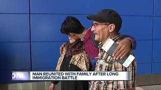 Man reunited with family after long immigration battle - Video