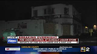 Fire rips through Holabird Discount Liquor in Dundalk - Video