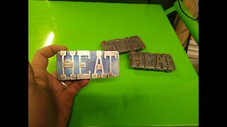 H.E.A.T custom belt buckle - RT ARTISAN WORKS