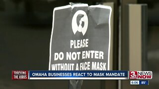 Omaha businesses react to mask mandate