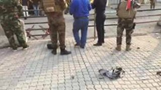 Body Parts of Suspected Suicide Attacker Strewn Across Kirkuk Street - Video