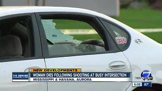 Woman shot Monday afternoon on Aurora road dies; police still looking for suspects