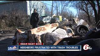 Neighbors frustrated that Indy alley is covered in trash - Video