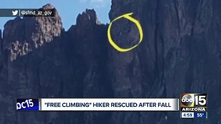 Free climbing hiker, and base jumper rescued Sunday