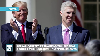 Trump Quietly Reshaping The Federal Courts With Judgeship Appointments - Video
