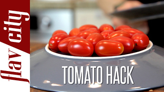 Food hack: How to cut cherry tomatoes - Video