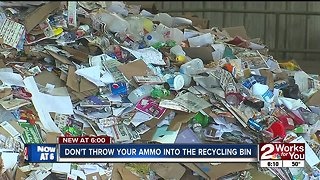 Tulsa pleads with citizens not to toss ammo in trash bins