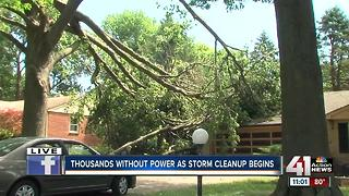 Thousands without power as storm clean up begins
