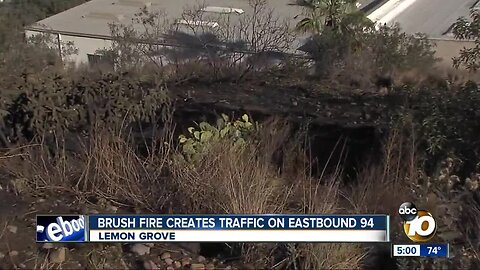 Fire sparked off 94 freeway