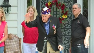 World War II veteran gets birthday surprise