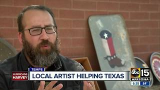 Valley artist using art to raise money for Texas hurricane victims - Video