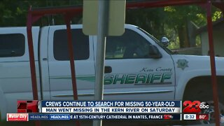 Authorities searching for three missing people in Kern River as of Sunday