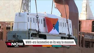 WWII-era locomotive ships from Milwaukee to the Netherlands - Video