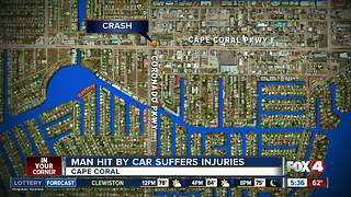 Man hit by car suffers injuries in Cape Coral - Video