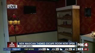 New magician themed escape room opens in Fort Myers - Video
