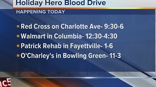 Holiday Hero Blood Drive Wraps Monday - Video