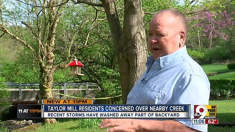 Creek tragedy threatens to swallow Taylor Mill home