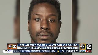 Police: Man arrested after stealing car with 5-year-old in it