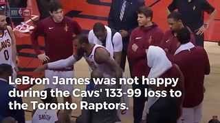 LeBron James Comes Unglued On Teammates During Ugly Loss - Video