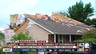 Confirmed tornado touches down in Stevensville