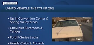 Rise in vehicle thefts in Las Vegas