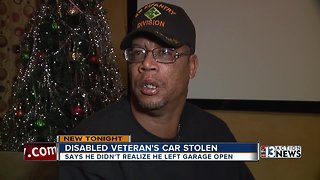 Disabled veteran's car stolen from Las Vegas home on Christmas