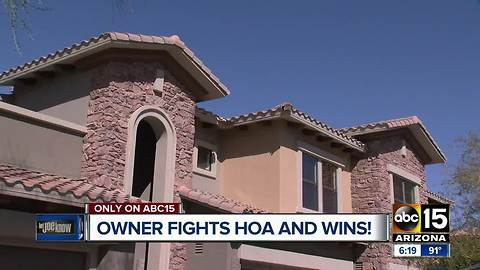 Valley homeowner fights HOA and actually wins