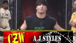 CZW Deja Vu II - A.J. Styles vs Jimmy Rave - NWA World Heavyweight Title - Video