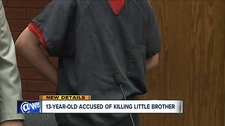 Teen accused of killing 11YO brother arraigned