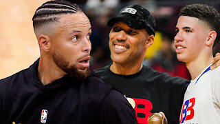 "LaVar Ball Says LaMelo Could Easily Beat ""Little"" Steph Curry One-On-One"