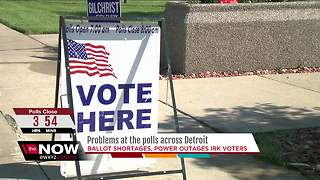 Problems at the polls across metro Detroit - Video