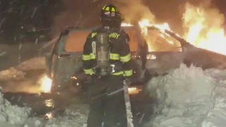 How can navigating snow banks cause a car fire? - Video