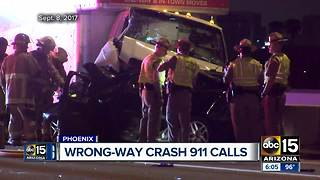 911 calls released in recent wrong-way crash - Video