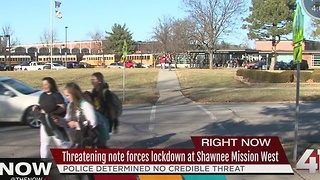 Lockdown lifted at Shawnee Mission West