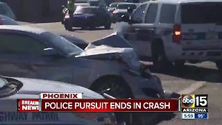 Trooper hurt in crash that may involve Scottsdale carjacking suspect - Video