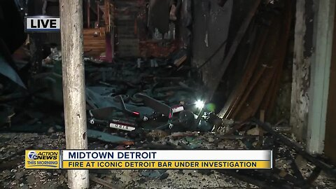Fire at iconic Detroit bar under investigation