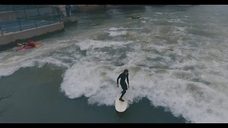 Surfers Braves Cold Weather for Sacramento River Excursion - Video