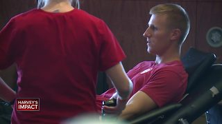 Packers tackle blood need with Packers Blood Drive at Lambeau Field - Video