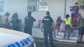 Riviera Beach police officers deliver surprise to local family