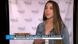 Olympic gymnast Aly Raisman speaks about sexual assault in Milwaukee - Video