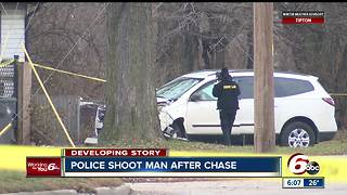 One person shot by police after pursuit on Indy's southeast side - Video