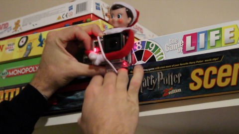 Dad Straps GoPro On Elf On The Shelf To Capture What The Toy Is Up To