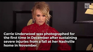 Carrie Underwood Photographed First Time Since Gruesome Facial Surgery - Video