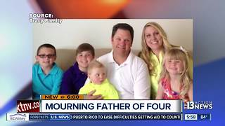 Father of four dies in fall on first day at construction job - Video
