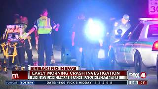 LCSO investigates early morning crash, DUI arrest made - Video