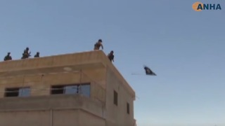 SDF Lower Islamic State Flag in Recaptured Town West of Raqqa - Video