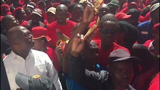 UPDATE 1 - Protesters at Saftu march mock President Ramaphosa (rCD)
