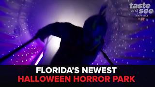 Florida's newest Halloween horror park - Video