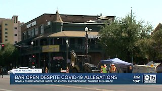 Tempe bar facing serious COVID-19 allegations pushes back on claims