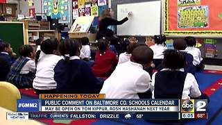 Baltimore Co. schools to decide if school will be open during Jewish holidays - Video